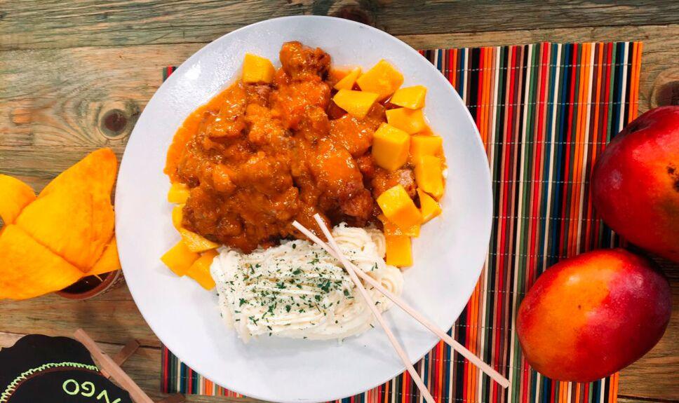 Receta Pierna de cerdo en salsa de mango