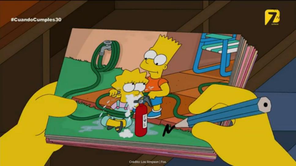Bart y lisa Simpson azteca 7