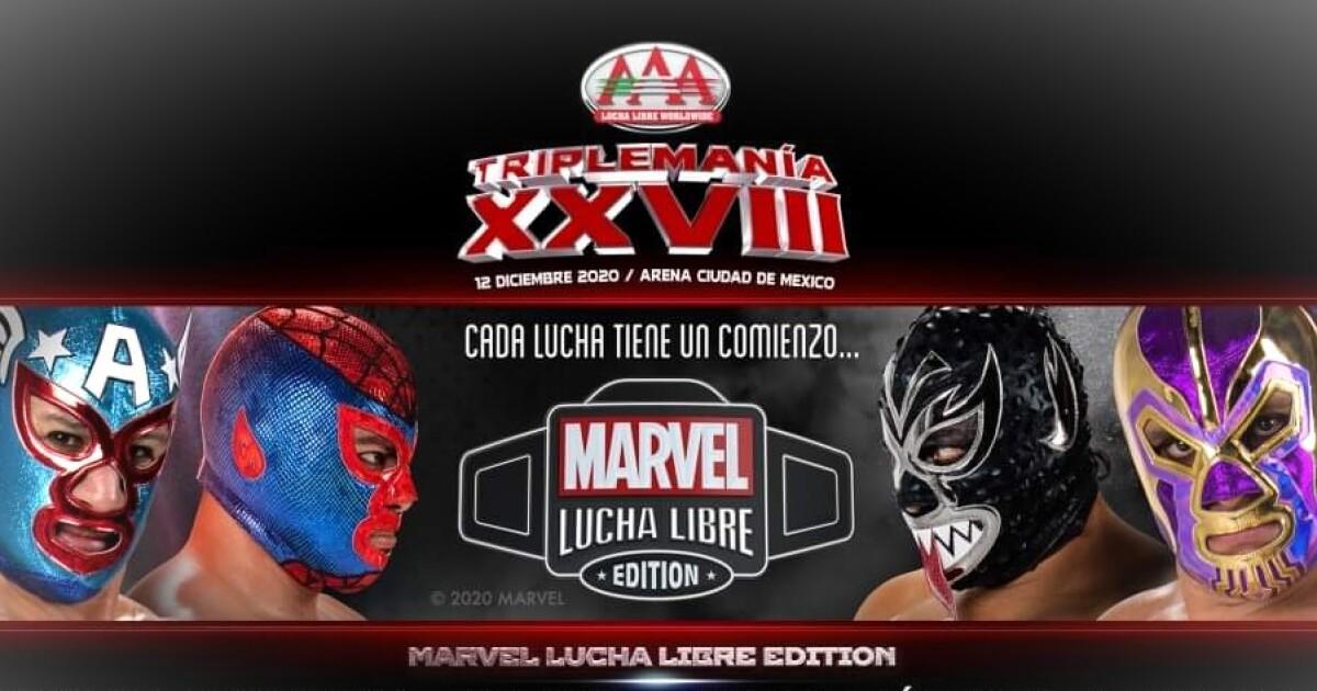 Triplemanía XXVIII: Marvel y AAA presentarán nuevos luchadores