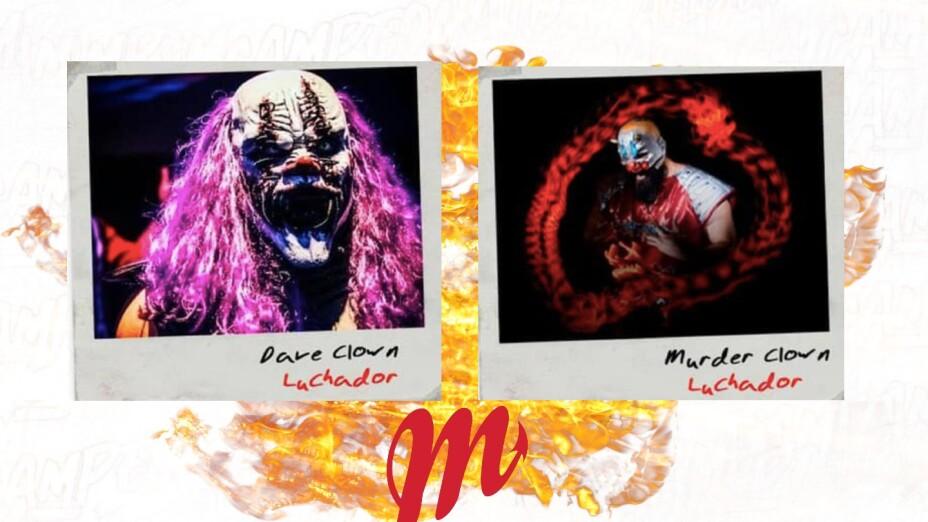 Murder Clown y Dave the Clown Diablos Rojos del México