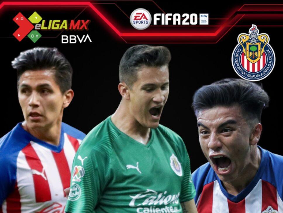Los jugadores de Chivas para la e Liga MX