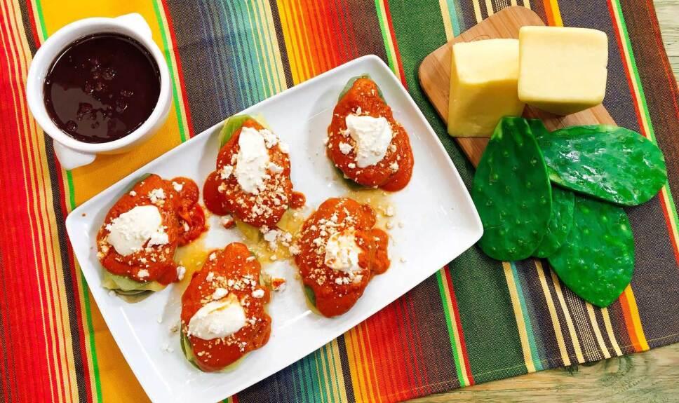 Receta Huarache de nopal