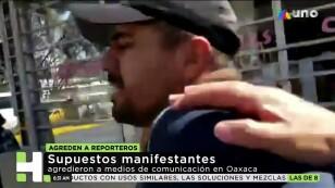 Agresión a reporteros en Oaxaca