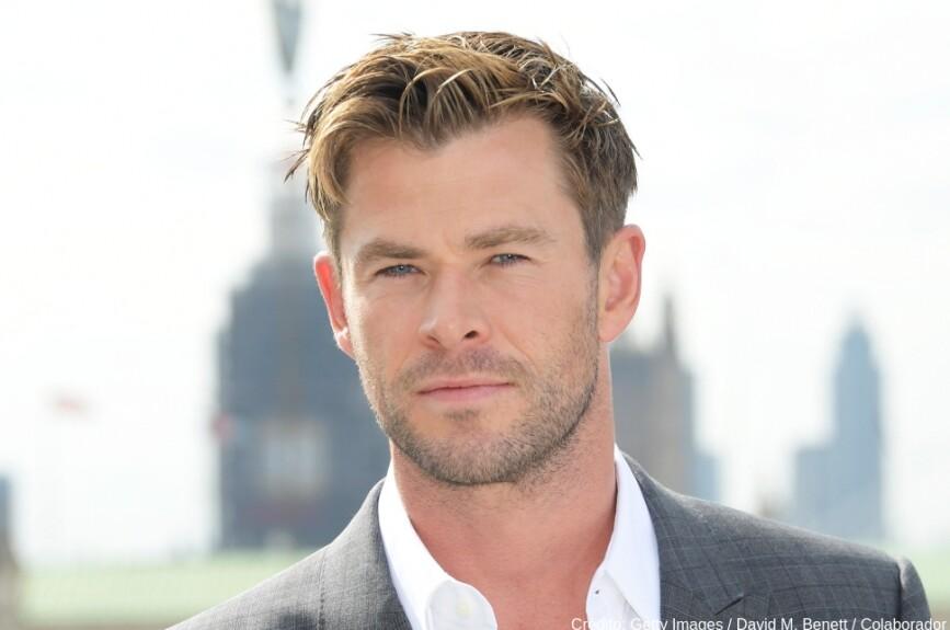 Arrancamos esta lista de galanes con Chris Hemsworth... ¡Vaya galán!