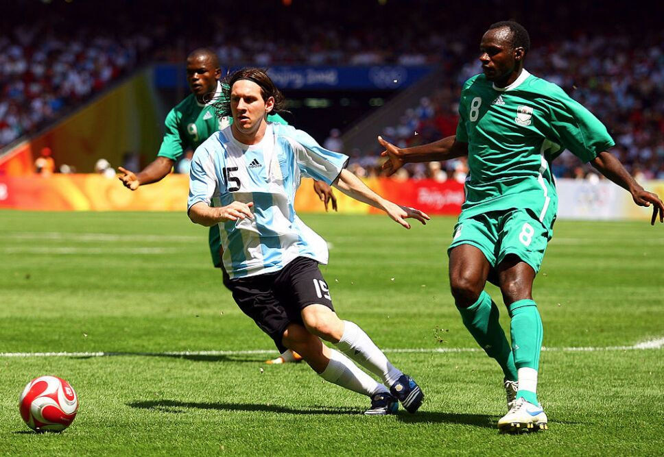 Messi desparramando talento en Beijing 2008