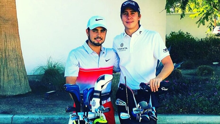 Abraham Ancer y Carlos Ortiz