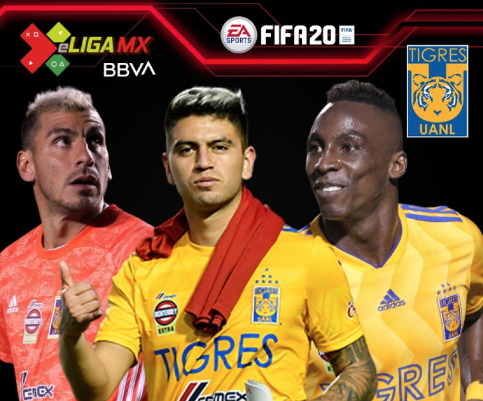 Los jugadores de Tigres UANL para la e Liga MX
