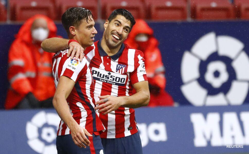Luis Suárez festeja su gol