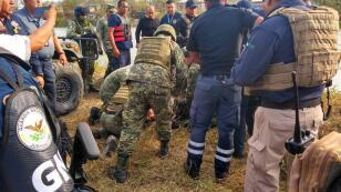 Disparo provocó volcadura de unidad de la GN en Tamaulipas