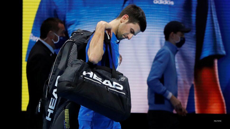Novak Djokovic en su derrota en Londres
