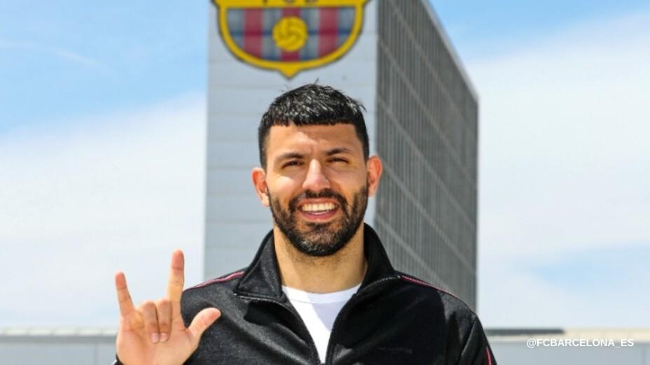 Sergio Agüero con Barcelona
