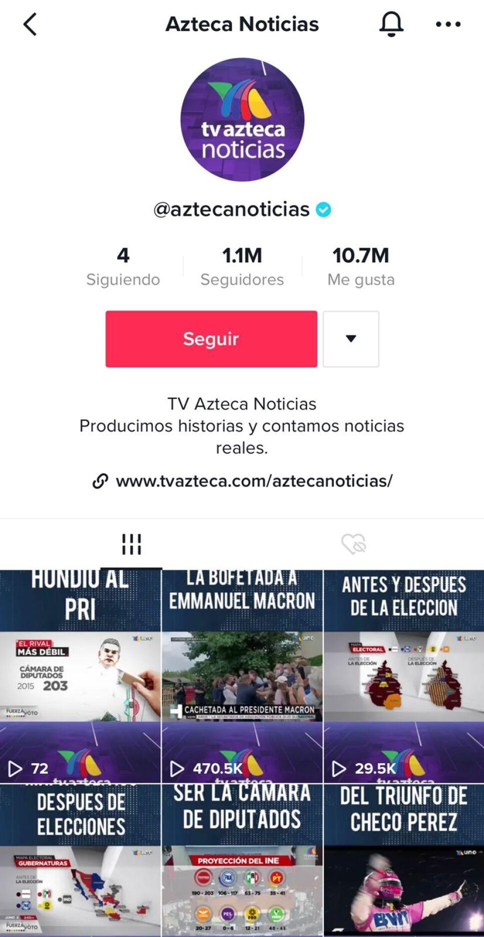 TikTok de Azteca Noticias