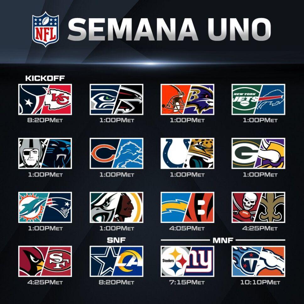 NFL anuncia calendario 2020 que deja atractivos encuentros