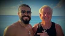 Ric Flair y Andrade lucha libre