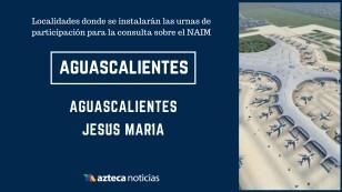 En estas localidades se instalarán urnas para participar en la consulta sobre el Nuevo Aeropuerto