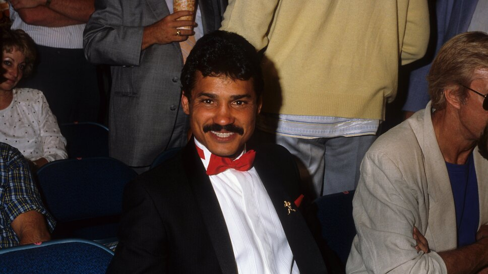 Alexis Arguello at Boxing Match