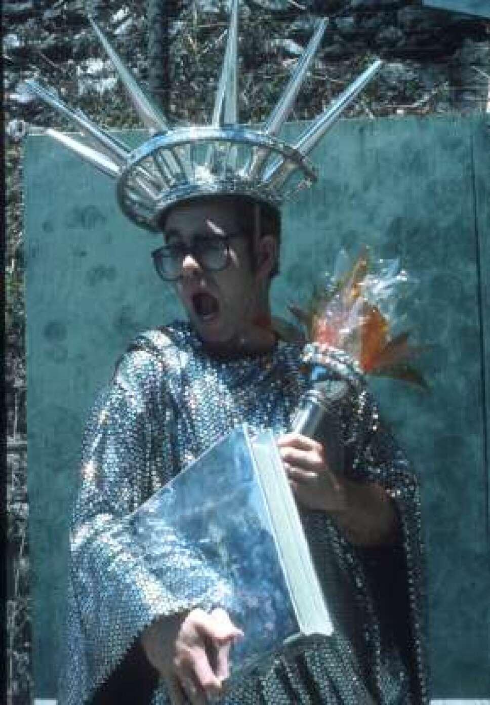 Disfraz de estatua de la libertad Foto Especial