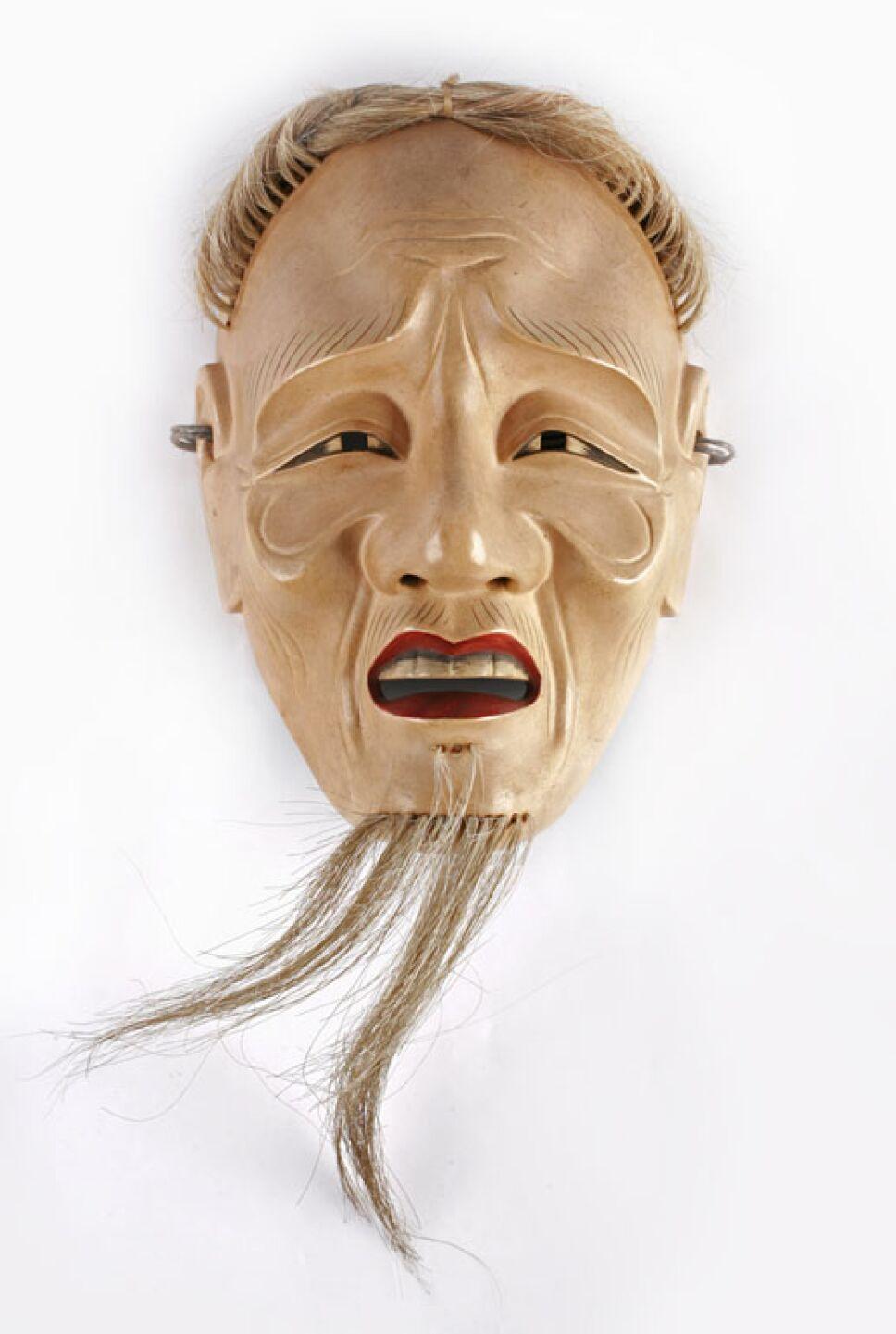 mascara de un anciano del teatro noh