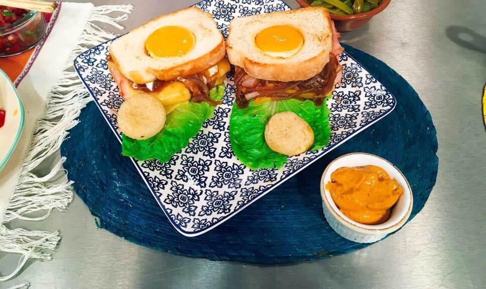 Receta Sandwich de huevo al gratín