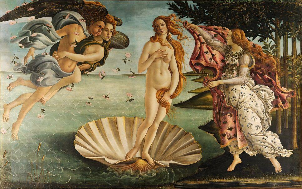 Sandro Botticelli El nacimiento de venus
