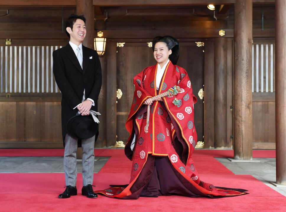 princesa Ayako de Takamado de japon se casa con Kei Moriya