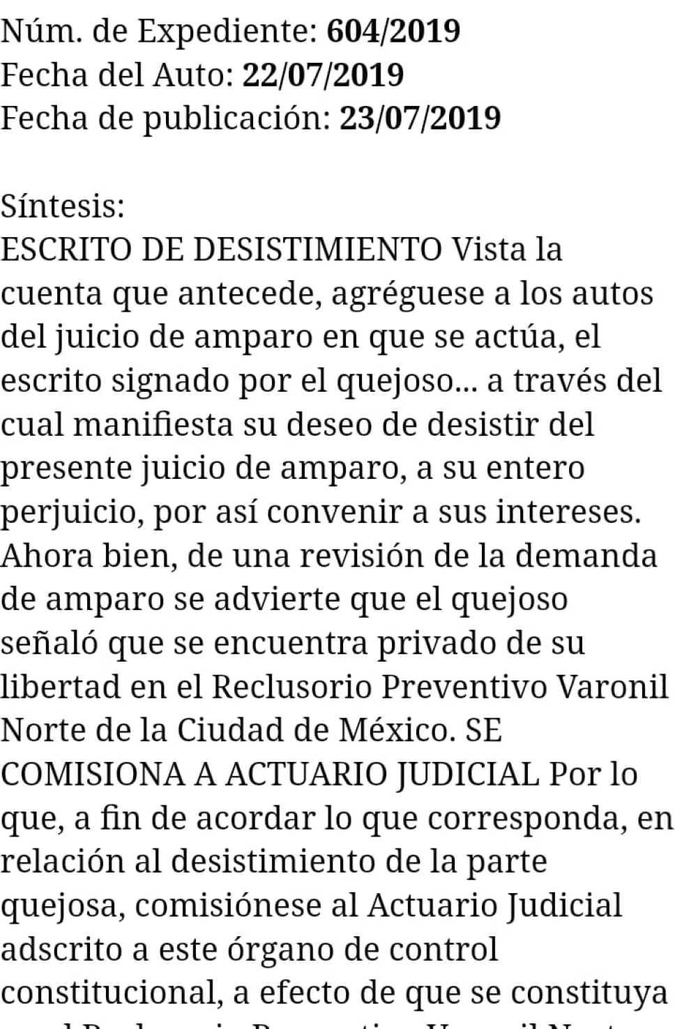 Juan Collado desiste de amparo contra congelamiento de cuentas