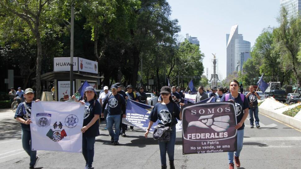 Protesta de la Policía Federal