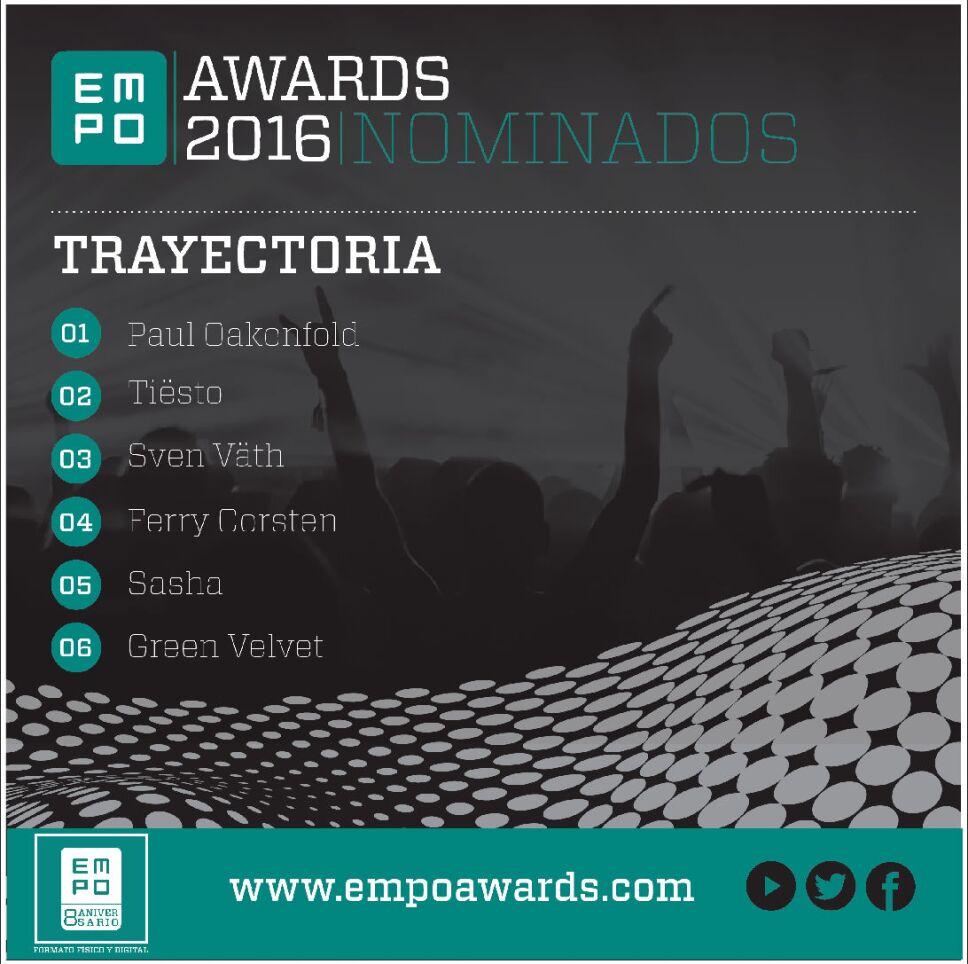 Trayectoria Empo Awards 2016