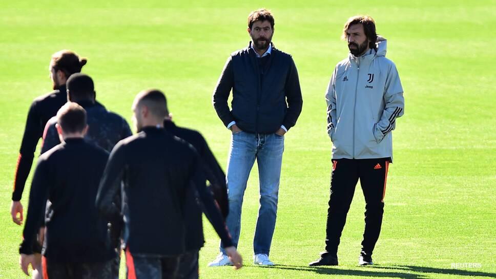 Andrea Pirlo en entrenamiento de la Juventus