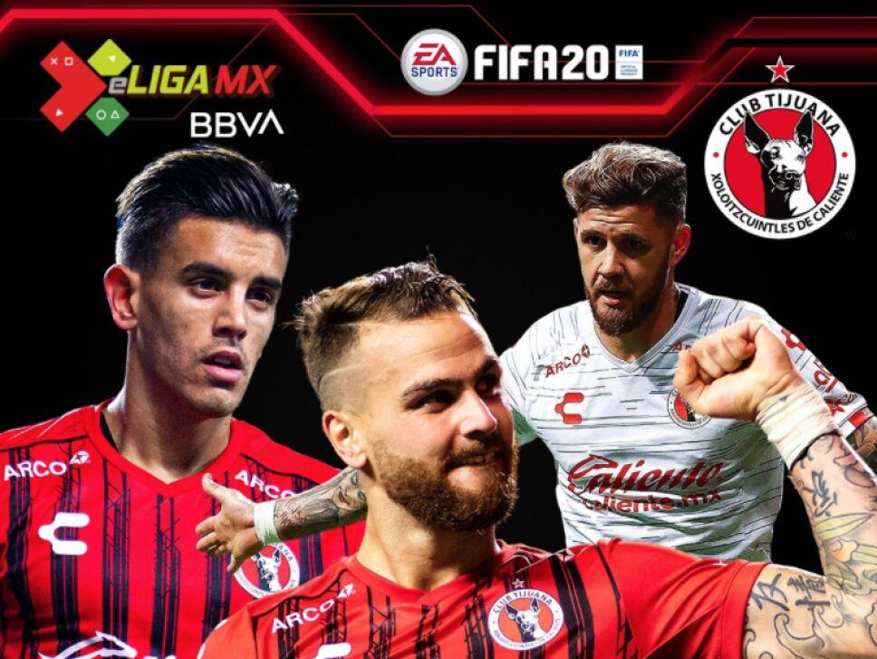 Los jugadores de Xolos para la e Liga MX