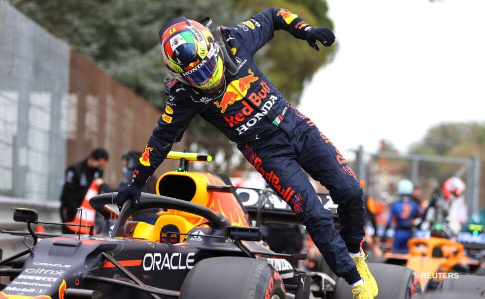 Sergio Pérez con Red Bull