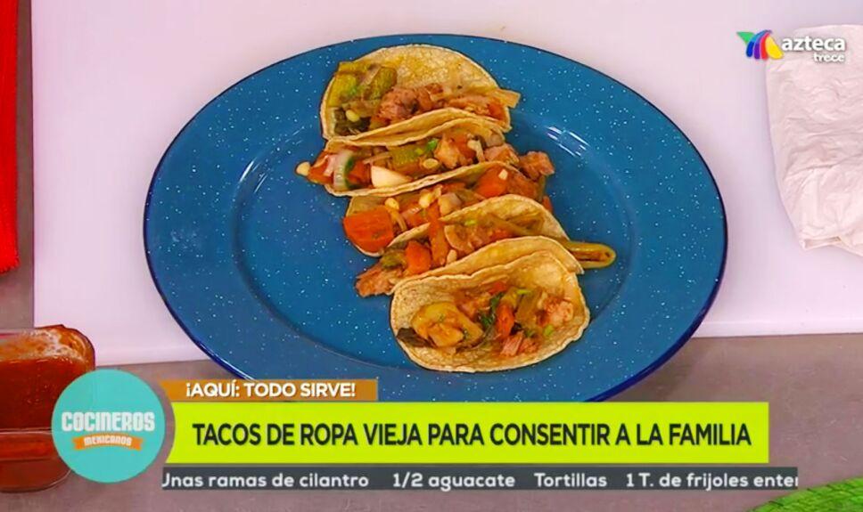 Receta Tacos de ropa vieja