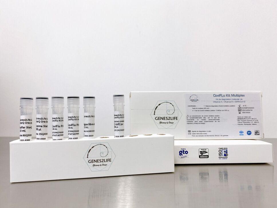 Coviflu kit, una prueba de diagnóstico que permite identificar la COVID-19 e influenza A y B.