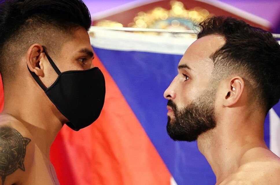 Vaquero vs Pitufo Díaz pesaje de la pelea
