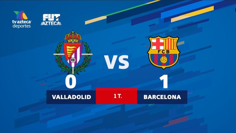 ¡El Barcelona se aferra al título de La Liga y ya derrota al Valladolid!