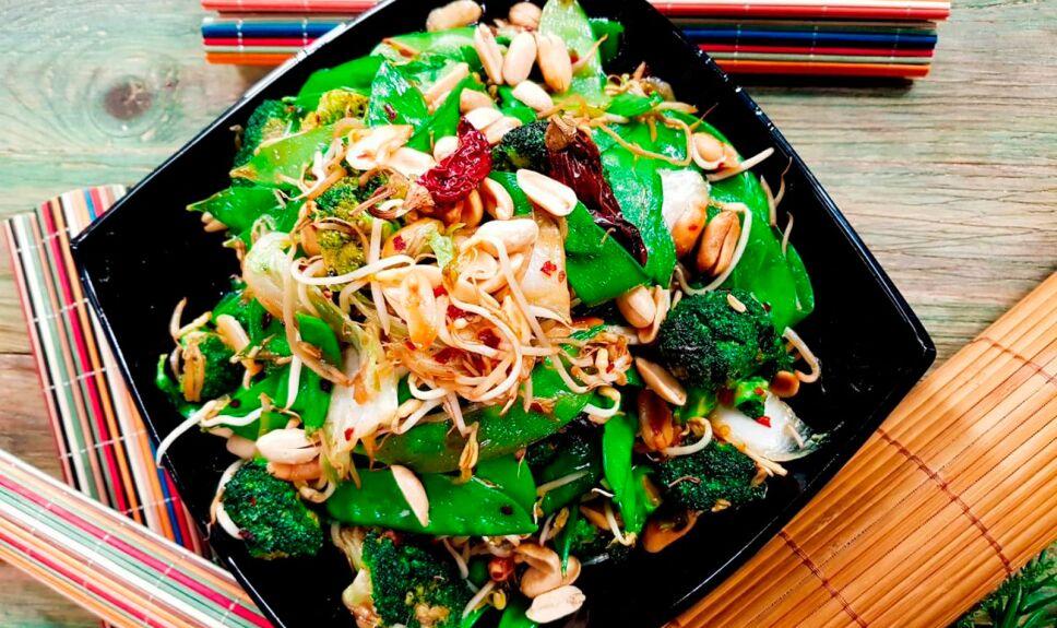Verduras chinas al ajo