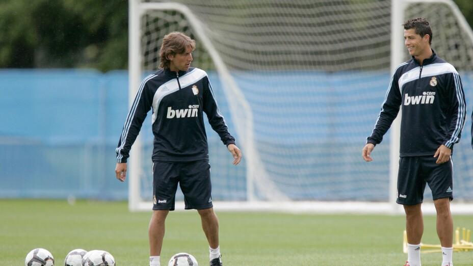 Gabriel Heinze y Cristiano Ronaldo