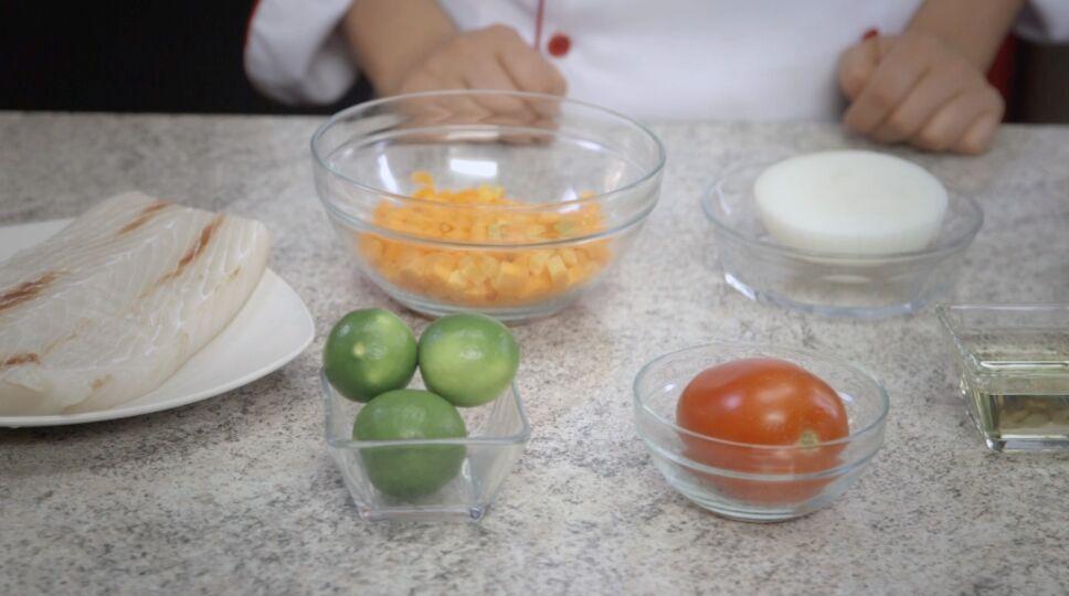 Ingredientes para tostadas de pescado