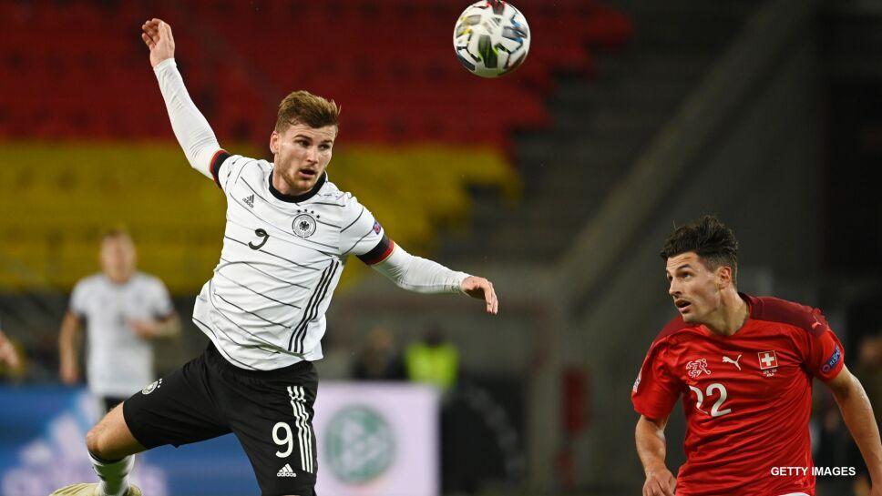 Timo Werner  con la selección de Alemania.