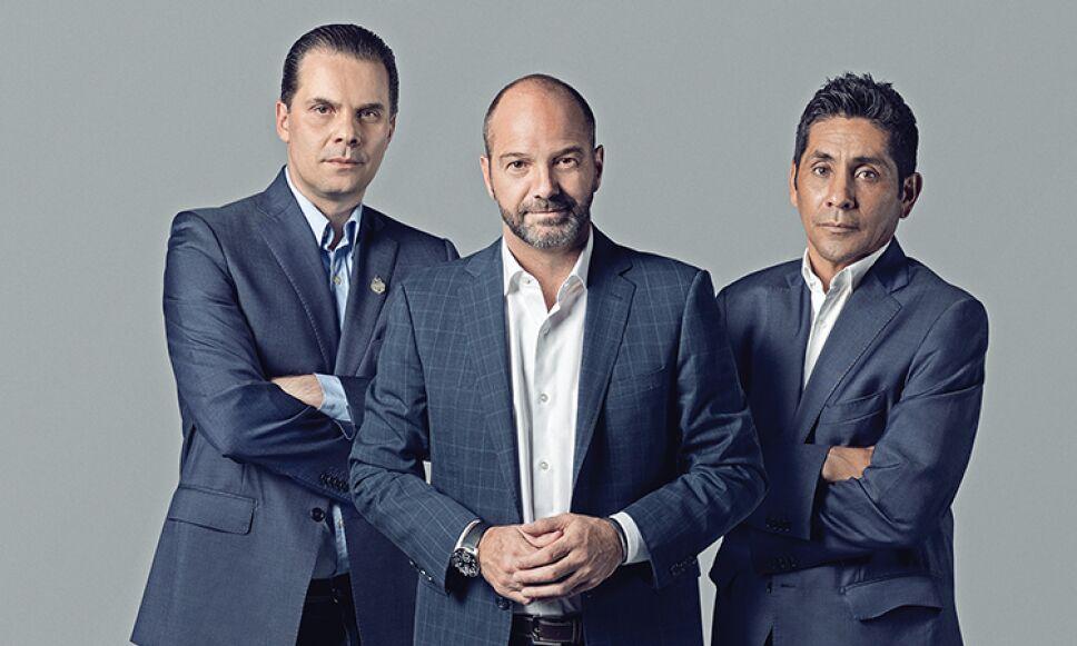 Christian Martinoli, Luis García y Jorge Campos, están listos para invadir Rusia / Foto: David Franco para 13/Trece Producciones