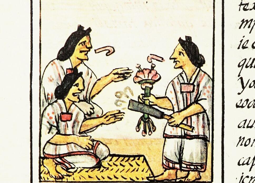 indigenas hablando codice florentino
