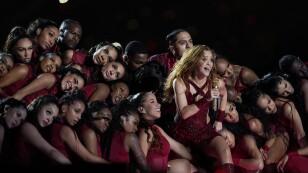 Shakira durante el Halftime show del Super Bowl LIV