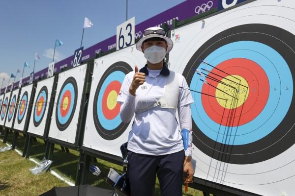 San An batió el récord olímpico de tiro con arco con 680 pts