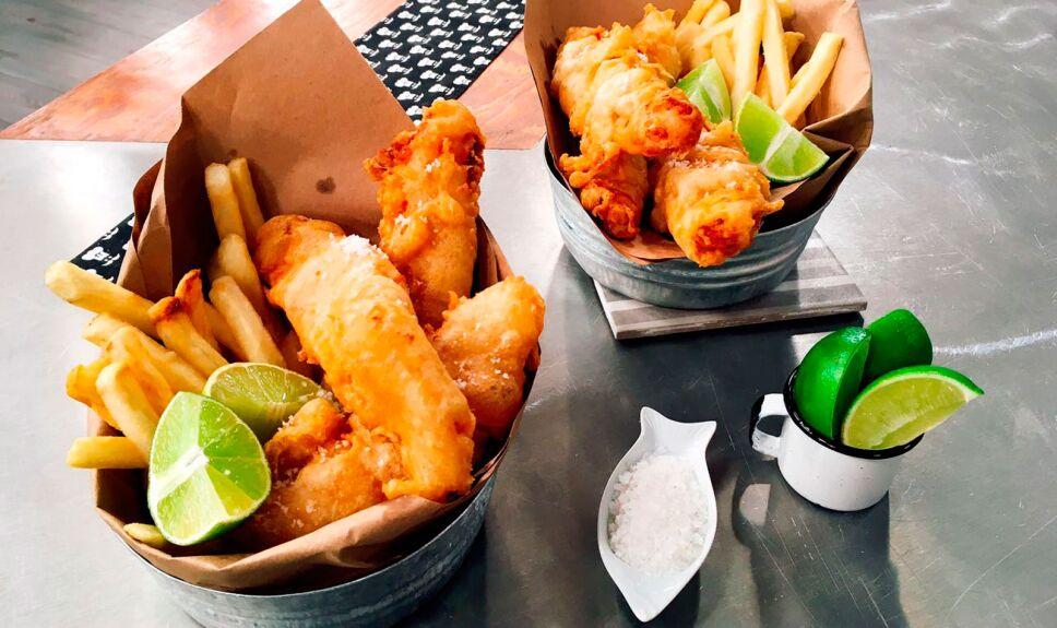 Receta Pescado y papas fritas