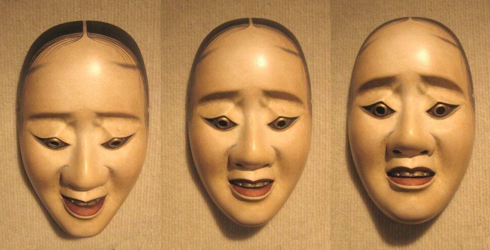mascara femenina teatro noh