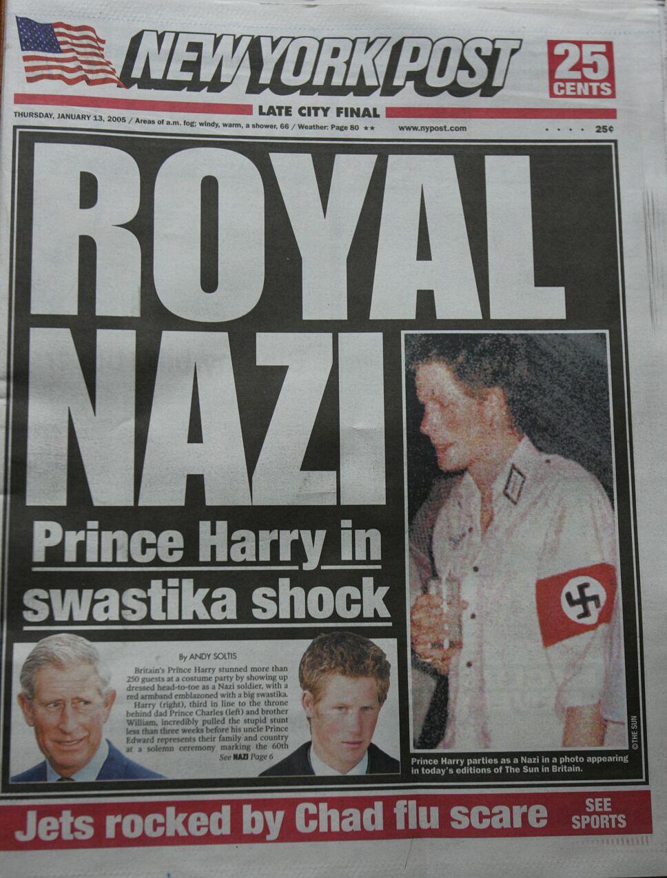 Príncipe Harry se disfraza de Nazi