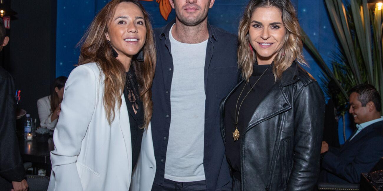 Lorena Alcázar, Susana Hermes y Mario Nadal