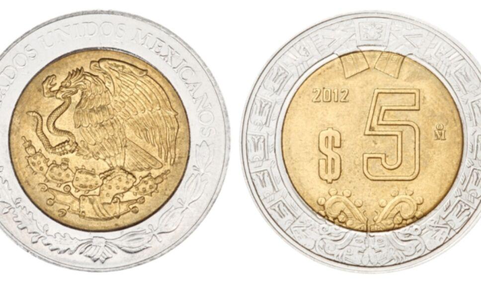 Las monedas de 5 pesos que podrías vender hasta en 10 mil pesos