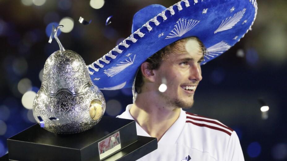 Alexander Zverev, campeón del Abierto Mexicano de Tenis