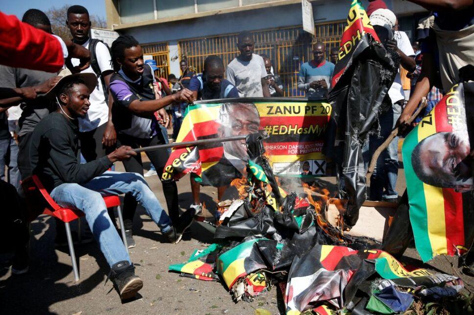 Protestas elecciones Zimbabue